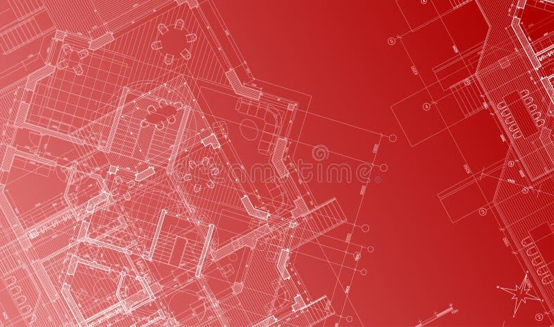 architektury planu wektor ilustracji