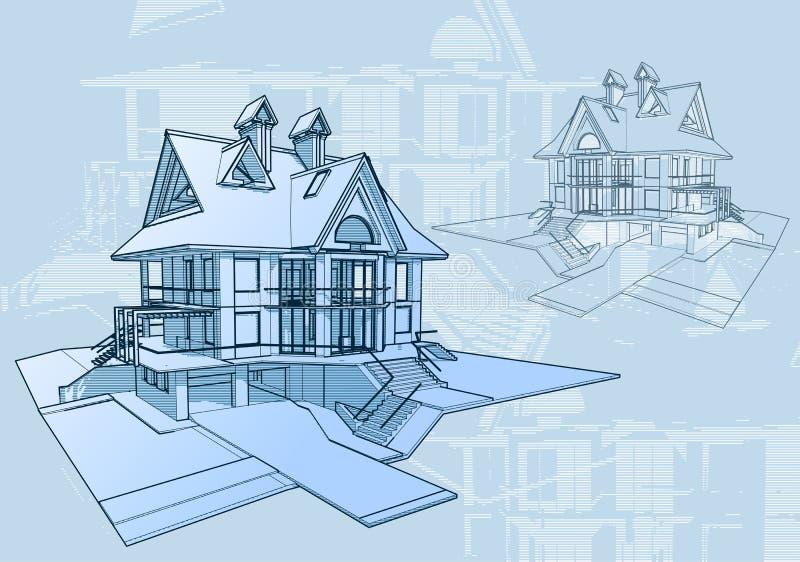architektury pojęcia dom ilustracji