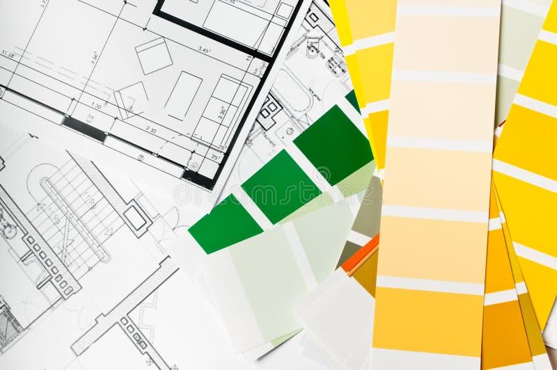 architektury projekta farby próbka obraz stock