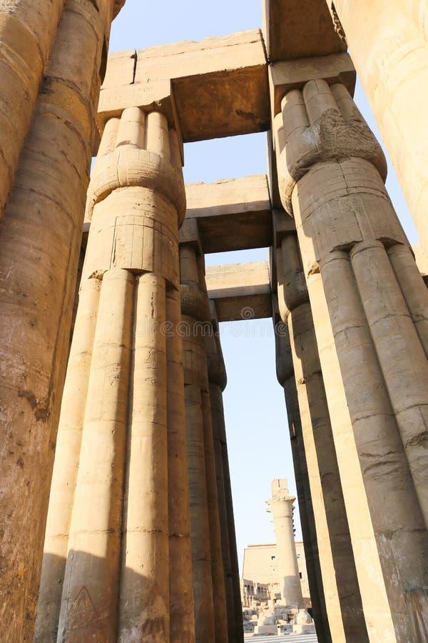Architektury Ramesseum świątynia w Luxor, Egipt - obraz royalty free