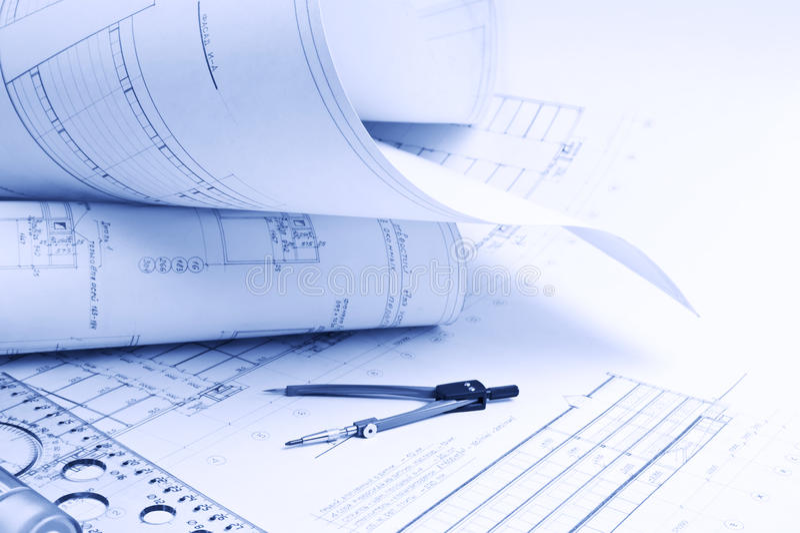 Architekturzeichnung stockbilder