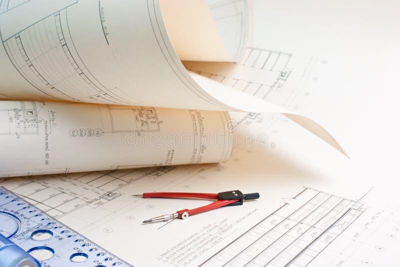 Architekturzeichnung lizenzfreies stockfoto