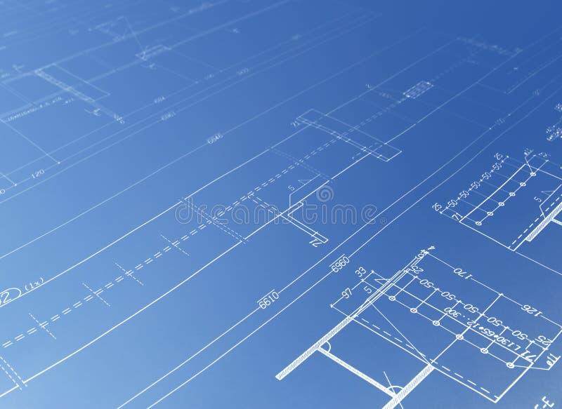 Architekturzeichnung lizenzfreie abbildung