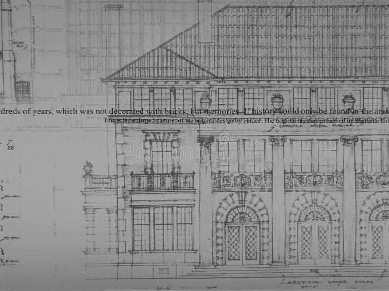 Architekturzeichnung stockfoto