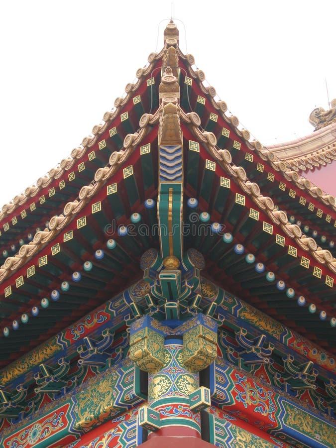 architerctural Beijing szczegół zakazać miasta. fotografia stock