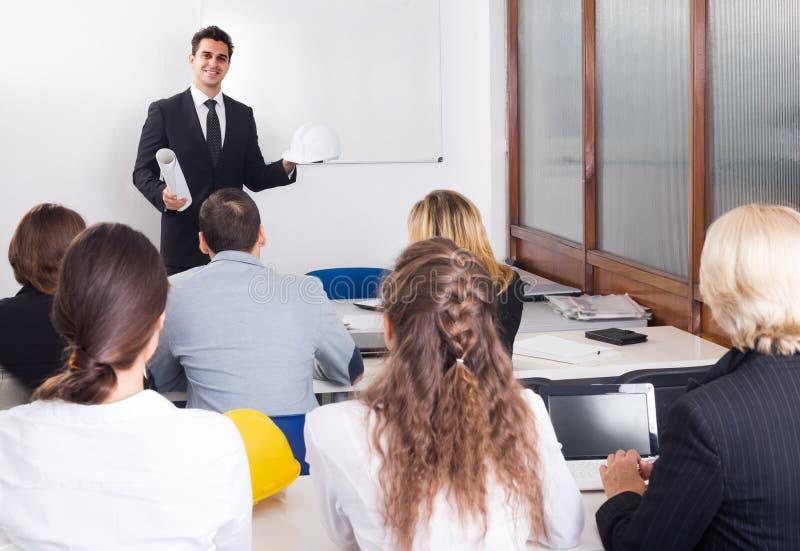 Architetti che avanzano i corsi di formazione in aula immagine stock libera da diritti