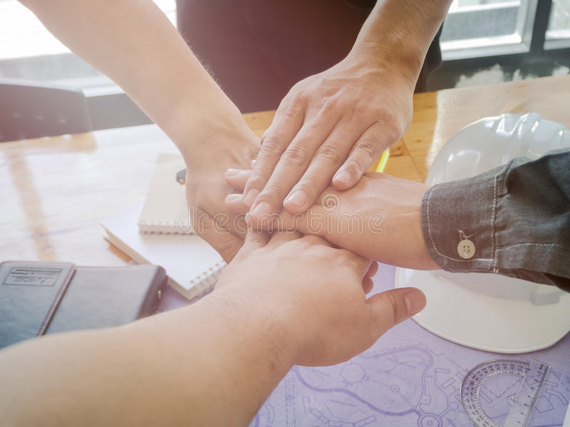 Architetti Team Teamwork immagine stock libera da diritti