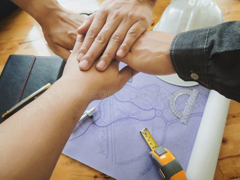 Architetti Team Teamwork Partnership immagini stock