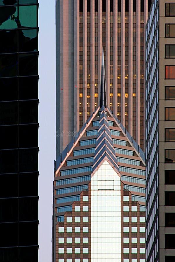 Architetto del Chicago al crepuscolo immagine stock