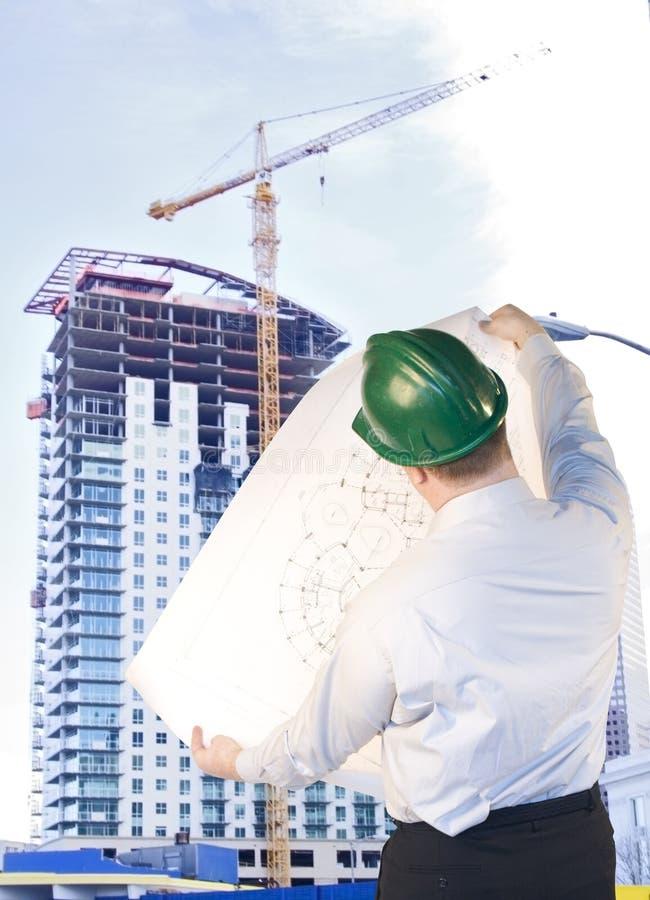 Architetto del Highrise fotografie stock libere da diritti