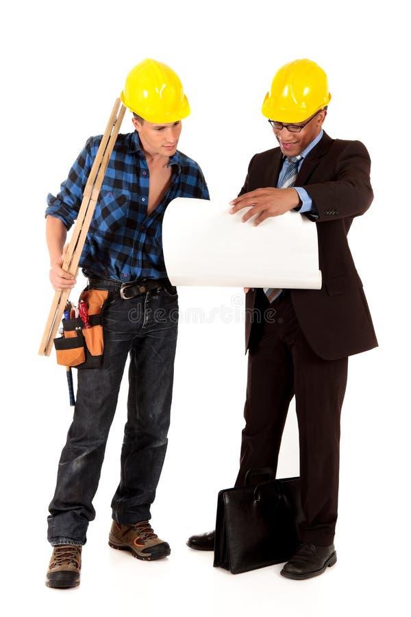 Architetto dell'operaio di costruzione immagine stock
