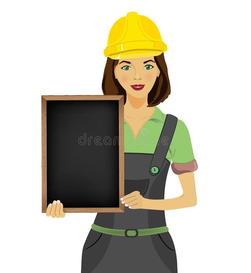 Architetto della donna illustrazione di stock