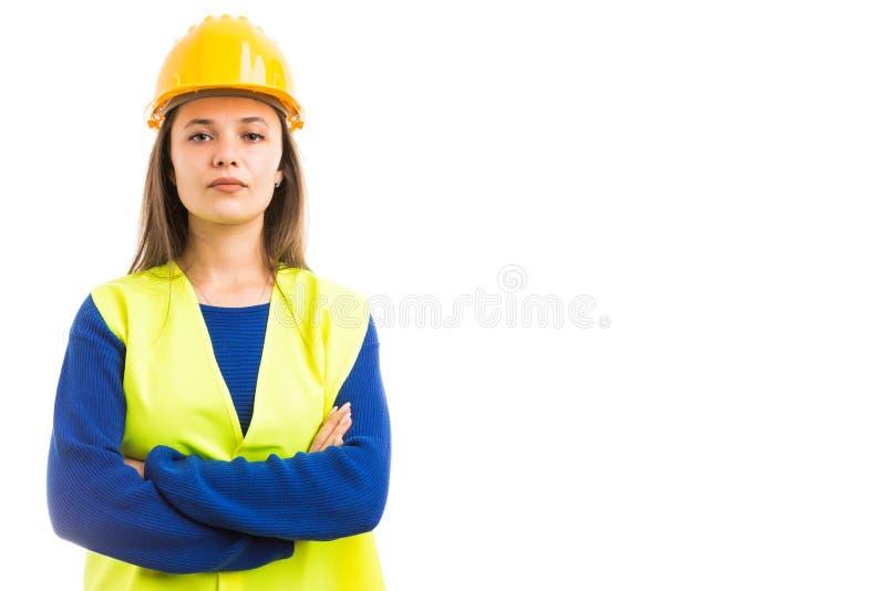 Architetto fiero della giovane donna immagini stock libere da diritti