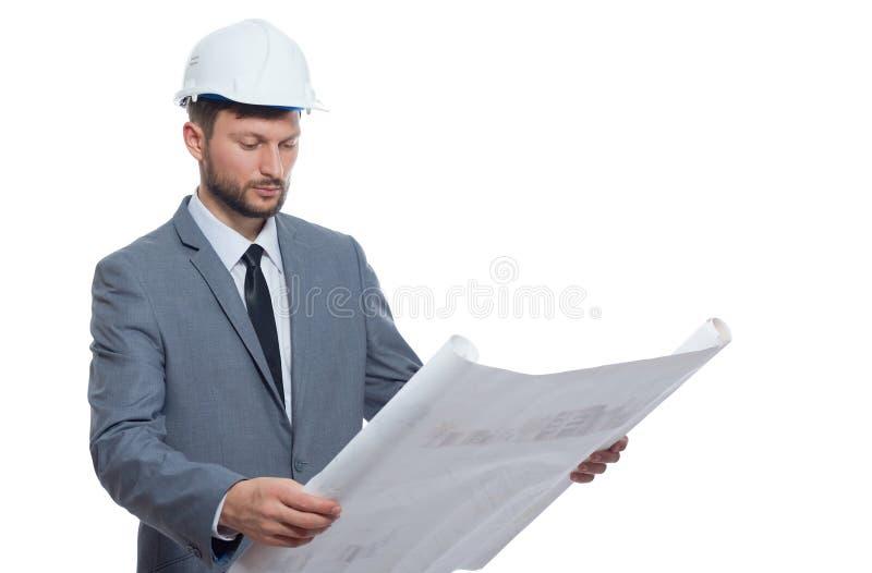 Architetto maschio maturo con un modello fotografia stock libera da diritti