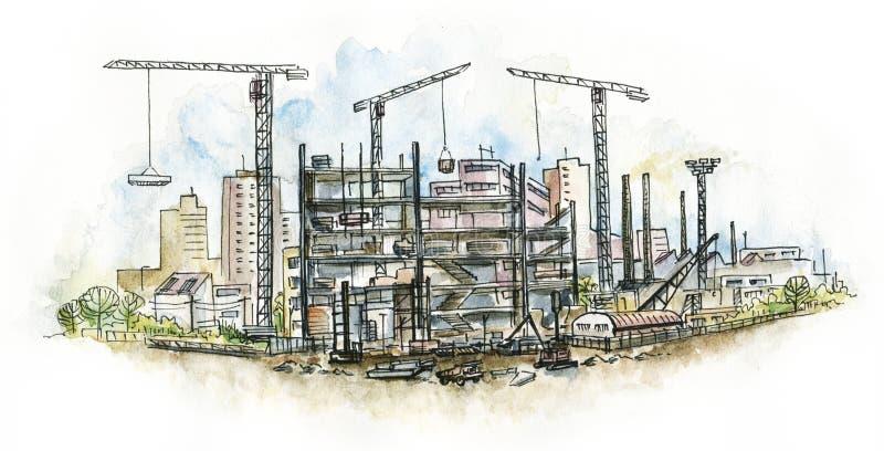 Architettonico. Cantiere. royalty illustrazione gratis