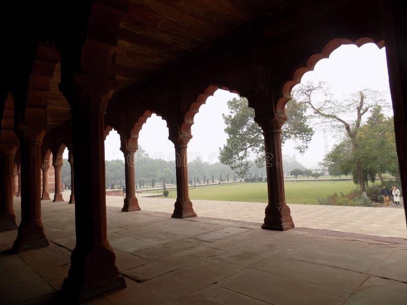 Architettura al Taj Mahal fotografia stock