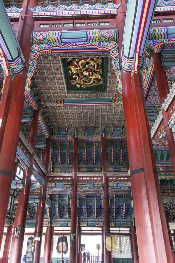 Architettura antica coreana fotografie stock
