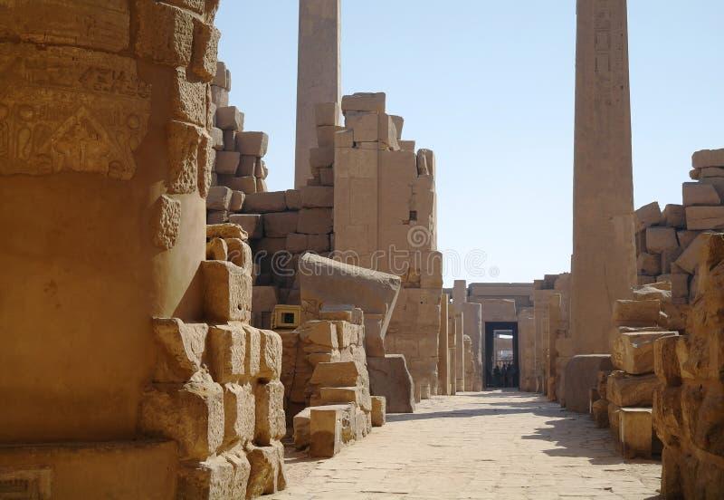 Architettura antica a Luxor, Egitto immagine stock