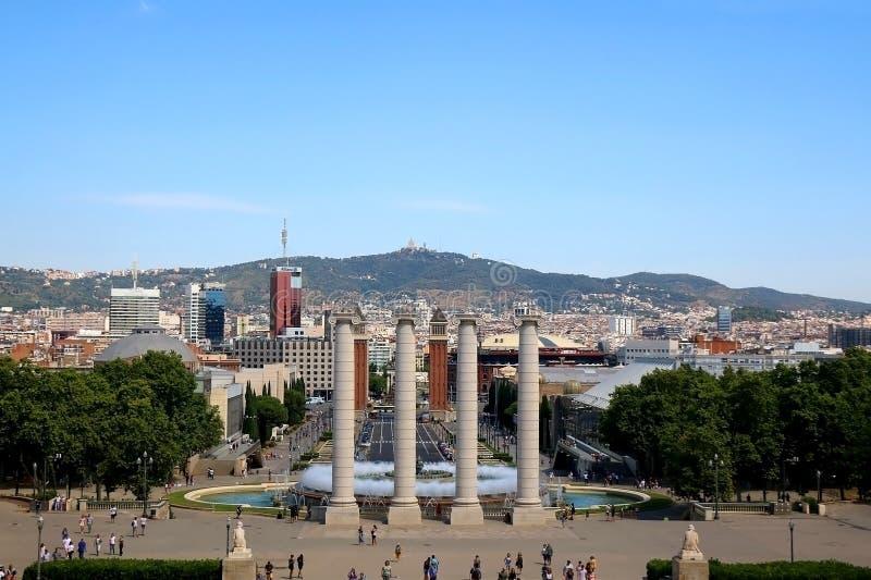 Architettura a Barcellona, Spagna immagine stock