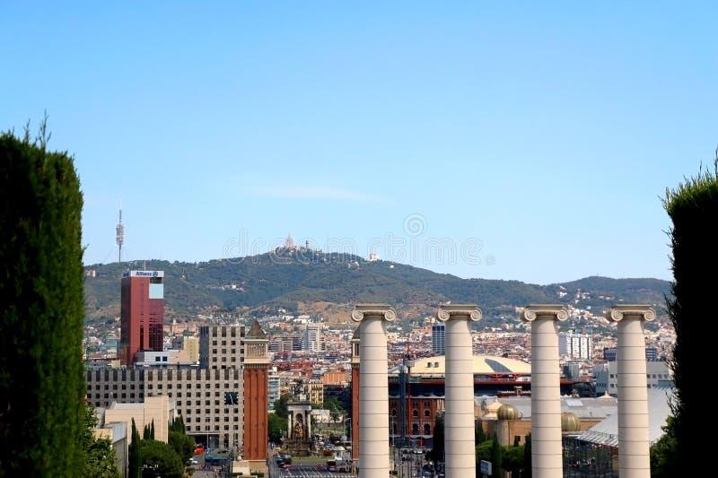 Architettura a Barcellona, Spagna fotografia stock libera da diritti