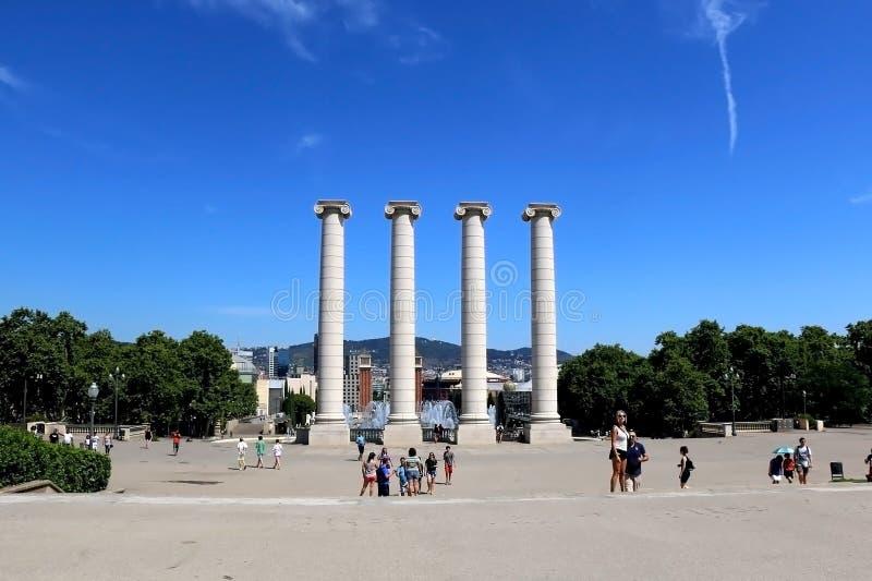 Architettura a Barcellona, Spagna immagine stock libera da diritti