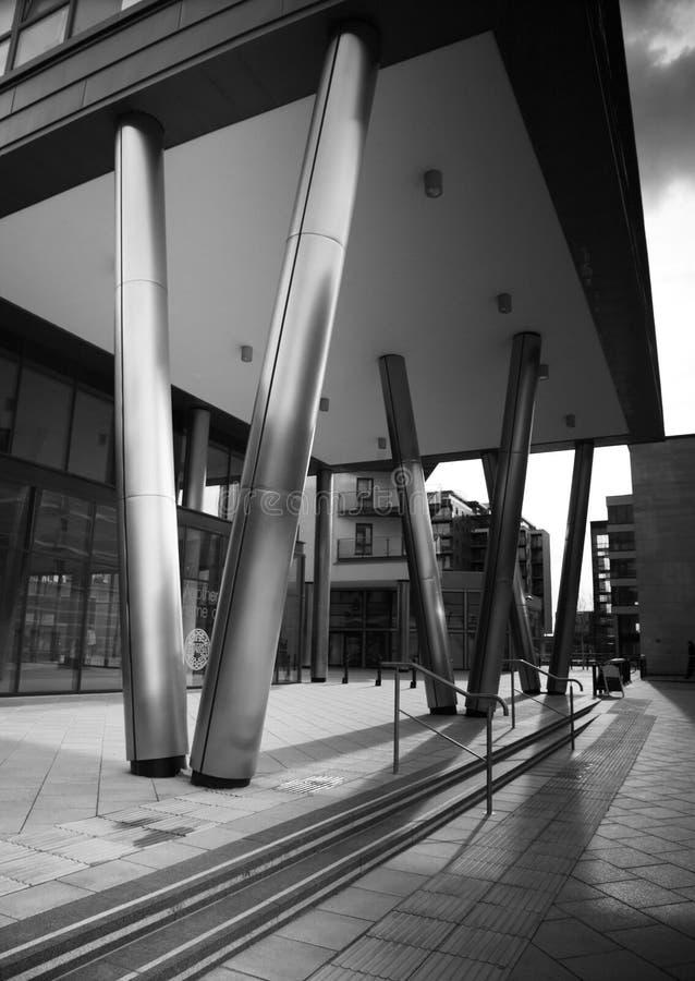 Architettura in bianco e nero fotografia stock libera da diritti