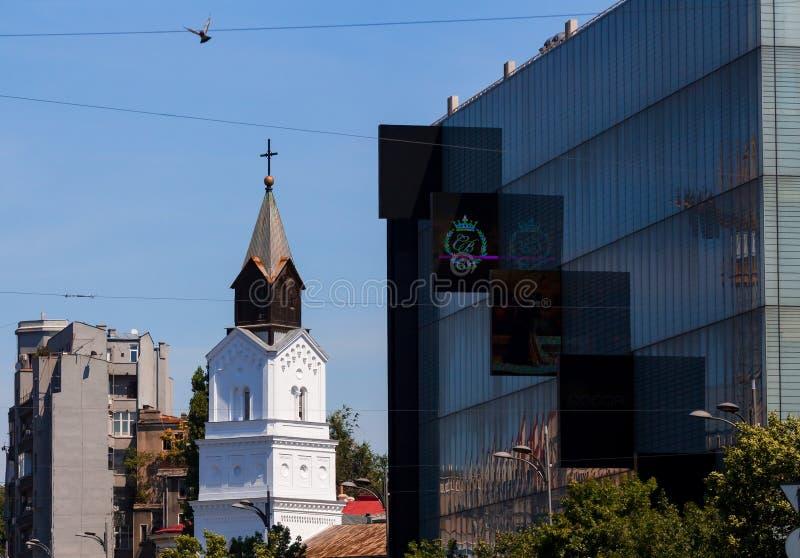 Architettura a Bucarest fotografia stock