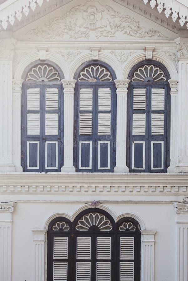 Architettura Chino-portoghese fotografie stock libere da diritti