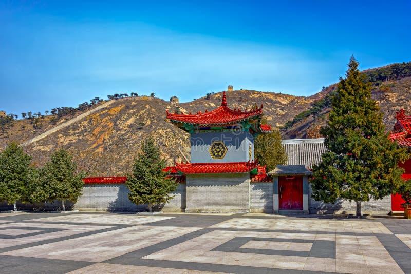 Architettura cinese antica sulla grande muraglia della Cina immagini stock
