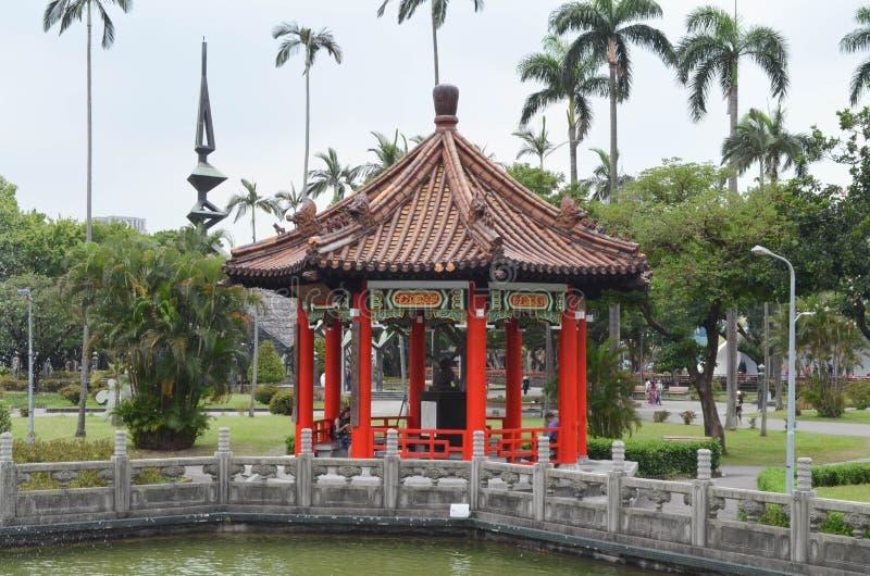 Architettura cinese storica nella città di Taipei fotografia stock