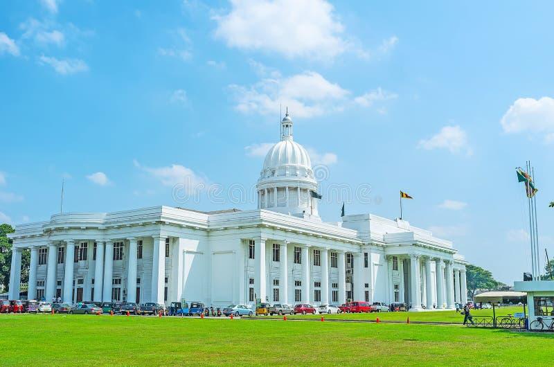 Architettura coloniale di era a Colombo fotografia stock libera da diritti
