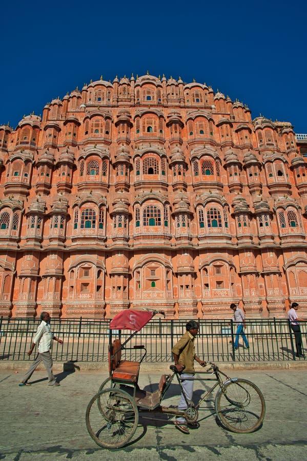 Architettura complessa a Jaipur antica fotografia stock libera da diritti