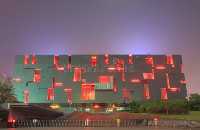 Architettura contemporanea del museo Canton Cina di Guangdong fotografia stock