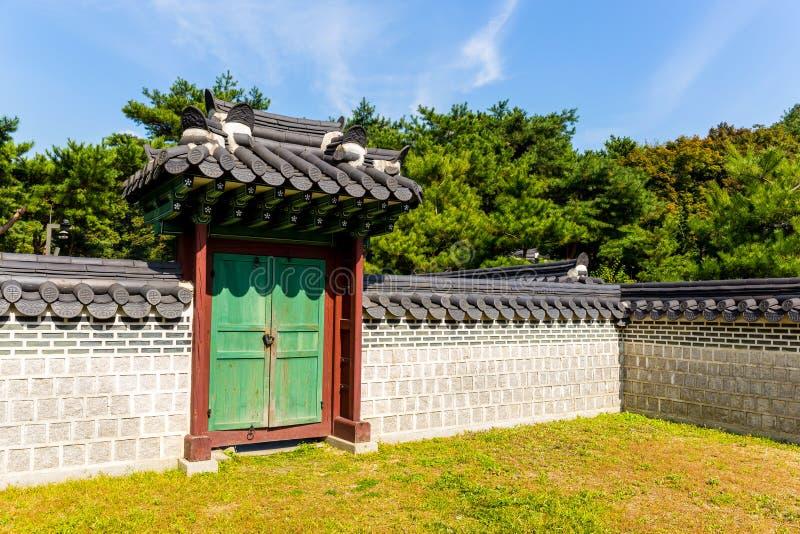 Architettura coreana antica immagini stock
