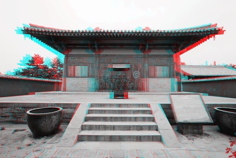 Architettura del cinese tradizionale in 3D fotografia stock libera da diritti