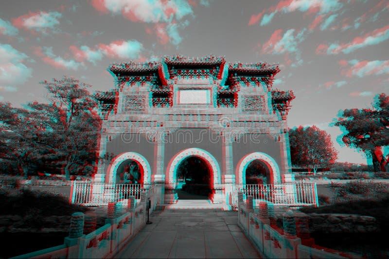 Architettura del cinese tradizionale in 3D fotografie stock