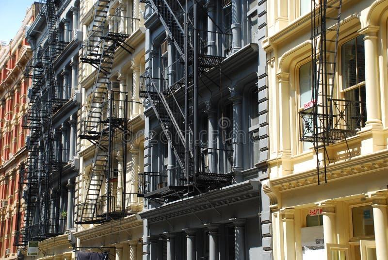 Architettura del ghisa di Soho. New York fotografie stock libere da diritti