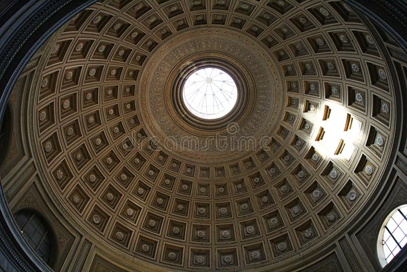Architettura del museo del Vaticano fotografie stock libere da diritti