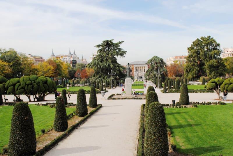 Architettura del pæsaggio a Madrid immagine stock libera da diritti