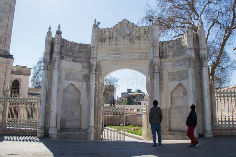 Architettura del portone dell'ottomano di esempio immagini stock