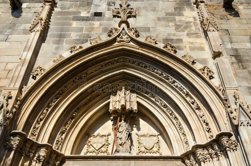 Architettura del quarto gotico, Barcellona, Spagna immagini stock