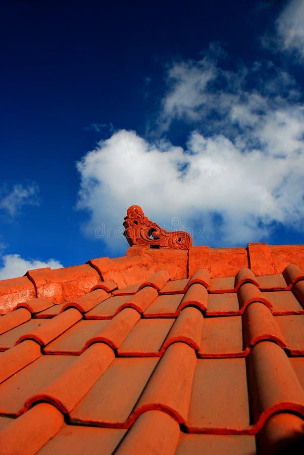 Architettura del tetto del Bali fotografia stock libera da diritti