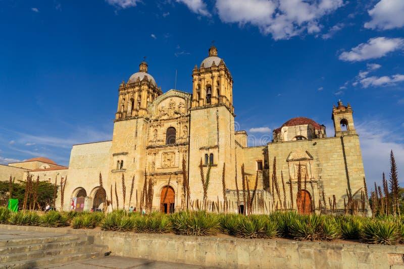Architettura della chiesa di Santo Domingo a Oaxaca, Messico fotografie stock libere da diritti