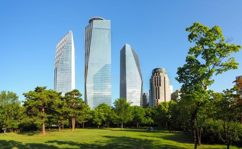 Architettura della città di Seoul immagine stock libera da diritti