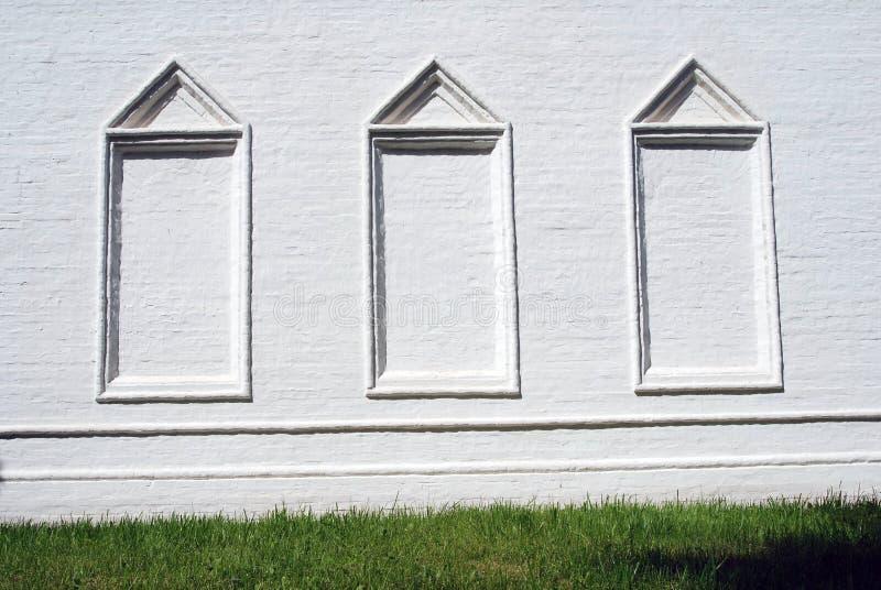 Architettura della proprietà terriera di Izmailovo a Mosca Tre finestre false fotografie stock