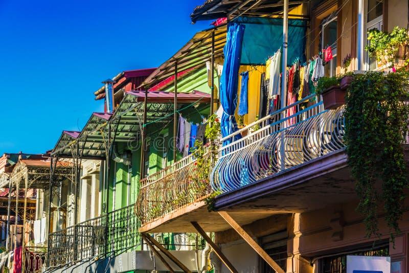 Architettura di Batumi nella Repubblica autonoma di Adjara, Georgia fotografia stock libera da diritti