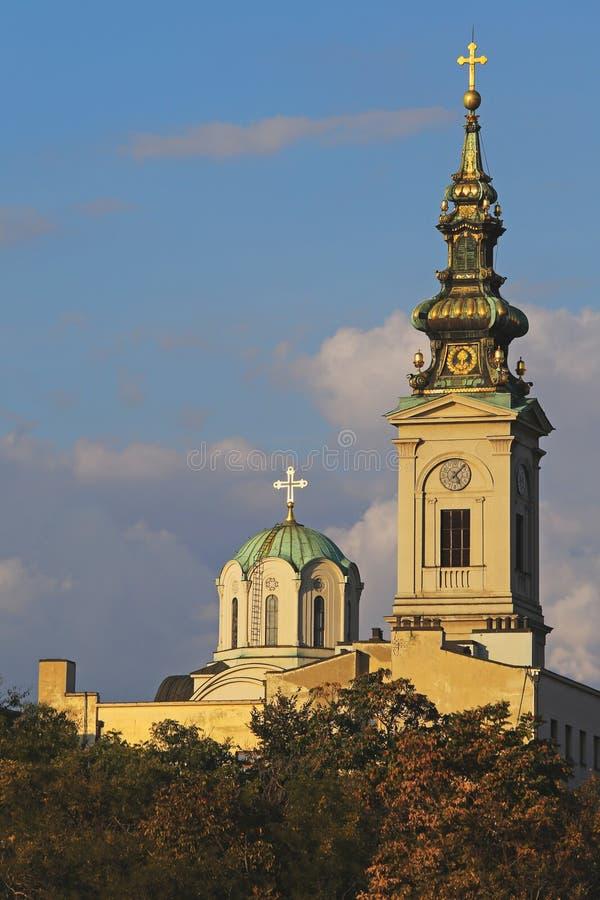 Architettura di Belgrado, capitol della Serbia fotografia stock