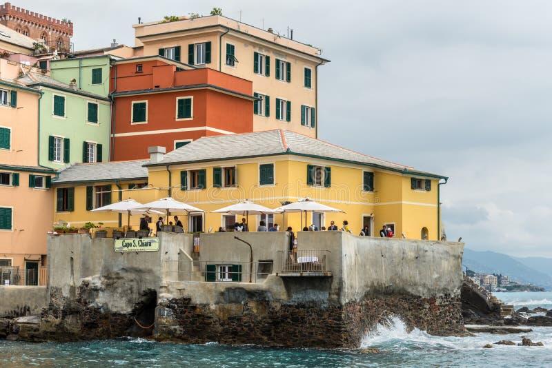 Architettura di Boccadasse, Genova - Italia immagine stock libera da diritti