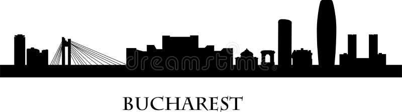 Architettura di Bucarest sotto il cielo drammatico royalty illustrazione gratis