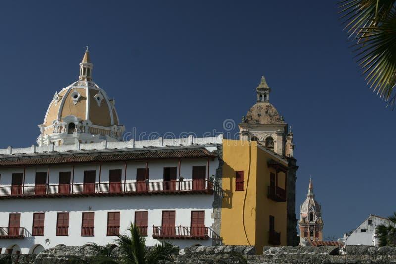 Architettura di Cartagine de Indias. La Colombia fotografia stock libera da diritti